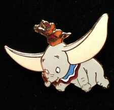 DISNEY PIN - DUMBO the Flying Elephant with Timothy Mouse and Feather - Retired