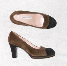 O' L'AUTRE CHOSE escarpins cuir daim bronze & noir P 37 TBE