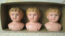 ~ Antique Minerva Tin Doll Heads Old Store Stock Made in Germany ~