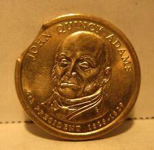 Error 2008P John Quincy Adams One Dollar Coin 5% Curved Clip Presidential Dollar