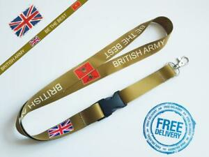British Army Be The Best Lanyard Neck Strap for Keys ID Card Holder W20mm L 52cm