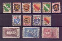 Frz. Zone 1945 - Allg. Ausgabe - MiNr. 1/13 gestempelt - Michel 250,00 € (061)