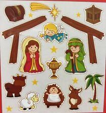 Nativity Set Magnets Fridge Educational Study Toys Kids Play Set Xmas Gift
