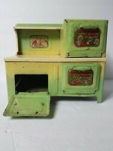 Vintage 1930's Little Orphan Annie Tin Oven /Stove Electrical Non Working Marx