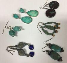Lot Of 6 Vintage - Modern Costume Earrings Pierced Variety Dangle