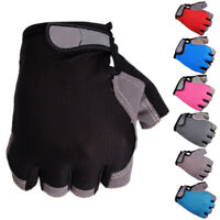 Unisex Breathable Anti-Slip Mesh Cloth Bicycle Cycling Half Finger Gloves