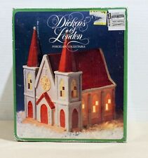 Christmas VINTAGE Hand Painted Church - Dickens of London Porcelain Collectable