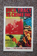 Dick Tracy vs Crime Inc Lobby Card Movie Poster The Prisoner Vanishes