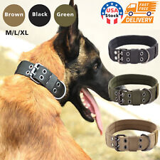 Tactical Scorpion Gear Dog Collar Canine K9 Training Walking Military- Nylon USA