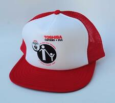 TOSHIBA COPIERS * FAX One Size Snapback Red & White  Trucker Baseball Cap Hat