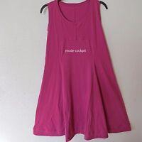 BORIS INDUSTRIES süsses Träger Shirt Kleid A-Linie Lagenlook pink 48-50 (5)