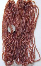 Mocha Brown VTG Antique Round Glass Seed Beads MASTER HANK = 10 Minis (6296517)