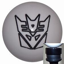 Transformers Decepticon White shift knob w/ black adapter kit fit new Dodge Dart