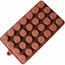 Silicona emoji cavidades pastel de chocolate para hornear galletas Molde Molde Jell Bandeja de Horno