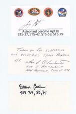 Us Astronaut Signed/Autographed Cut Index Card Lot (8)Curbeam,Cabana,Apt