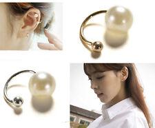 1x Womens Gold Pearl Wrap Ear Cuff Earring Cartilage Clip On NO Piercing HGUK