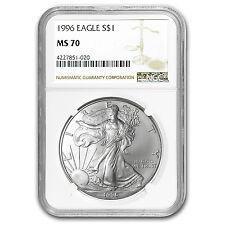 1996 Silver American Eagle MS-70 NGC (Registry Set) - SKU #96247