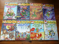Lot of 8 GERONIMO STILTON Mystery Chapter Books AR3 Mouse