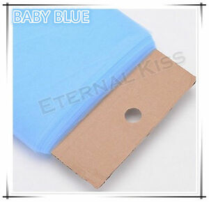 """NEW Soft Wedding Tulle Bolt 54""""inch x 40yd(1.4m x 36m) - Baby Blue"""