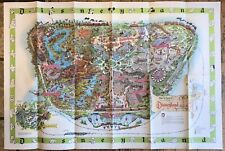 """Disney Land Large Map 44""""x30"""" 1964 Map"""