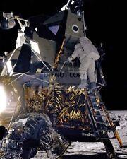 APOLLO 12 ASTRONAUT ALAN BEAN ON LUNAR MODULE LADDER - 8X10 NASA PHOTO (AA-782)