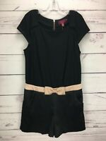 Ted Baker 4 Siria Bow Details Black Playsuit Short Sleeve Women's Size 10 NWT