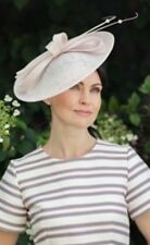 PEARL BABY PINK WEDDING ASCOT DISC FASCINATOR HAT FORMAL MOTHER OF THE BRIDE