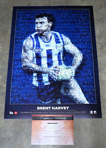 North Melbourne Brent Harvey 400 Game AFL Mosaic Print ONLY Limited Edition