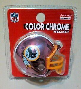 "2- Washington Redskins NFL Riddell Sports Mini 2"" Color Chrome Football Helmet"