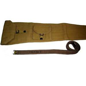 SMLE British WW2 P-1937 Enfield Rifle Khaki Carrying Case with Sling E309
