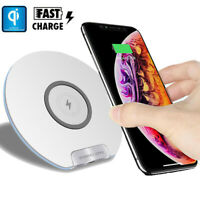 Fast Qi Wireless Charger 10W Charging Mat Pad For Samsung Galaxy S10 iPhone Xs 8