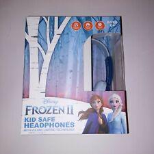 Disney Frozen 2 Kid Safe Headphones Volume Limiting Adjustable Headband Soft Ear