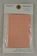 Tabbed Note Pack Peach Tab Cutouts 3 Pads 30 Sheetspad Noted By Post It New