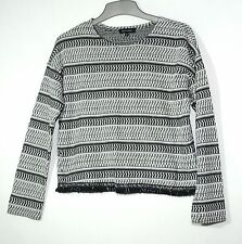 WHITE BLACK STRIPED LADIES CASUAL TOP SIZE 10 NEW LOOK