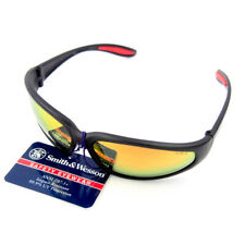 12 -Smith & Wesson 3011702 38 Special Black Frame Mirror Lens Safety Sun Glasses