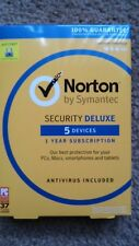 Norton Security Deluxe 5 Devices -1 Year subscription- PC/MAC/Android/iOS