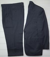 Jos A Bank Signature Gold Suit 42L Gray Pinstriped Mens Size Wool 2 Button Lined