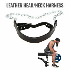Head Harness Neck Muscle Leather MMA Fitness Strength Gym Equipment Training