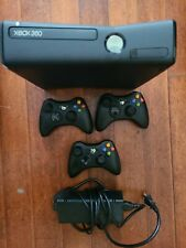 Microsoft Xbox 360 S with 250Gb Black Console with 3 Controllers