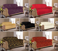 Jacquard Quilted Sofa Slip Covers for 1, 2 & 3 seater /  Alternate to Sofa Throw