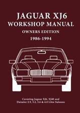 JAGUAR XJ6 Manuel d'atelier propriétaires Edition (XJ40): couvertures All 2.9,