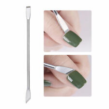 Pro Dual-ended Steel UV Gel Cuticle Nail Remover Anti-slip Manicure Tools