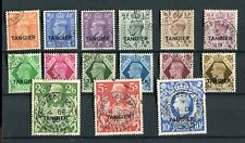 Morocco Tangier KGVI 1949 definitive set of 15 SG261/75 fine used