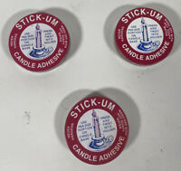 STICK-UM Candle Adhesive Fox Run Craftsman, Ivyland, PA Made In U. S. A.  Read
