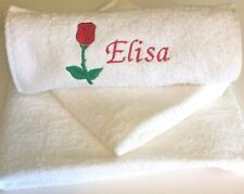 Personalised Towels, Embroidered Face, Hand & Bath Towels, Design Your Own Towel