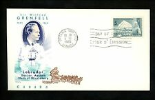 Postal History Canada Scott #438 Overseas Mailer FDC Grenfell Medical 1965 ON