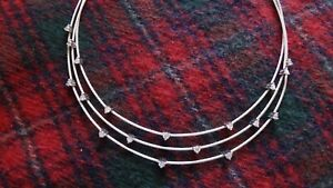 PAUL MORELLI Triple Unity Necklace, 18k White Gold Diamond Necklace