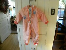 Vintage Weather Tamer Quilted Zippered Snowsuit Size 24M