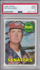1969 Topps Ted Williams #650  PSA 9