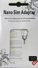 4 in 1 Nano Micro Standard Sim Card Adapter W/ Ejector Pin For Tablet Smartphone
